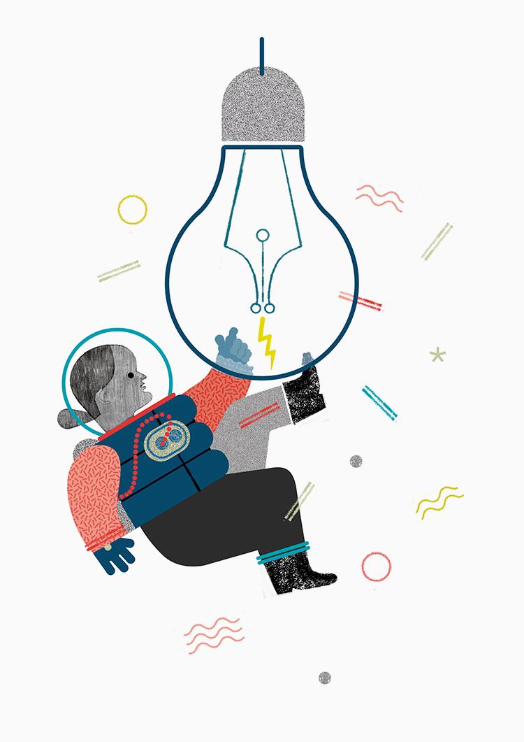 La Luna è una lampadina | Ana Bustelo